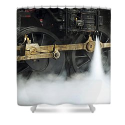 Blowing Of Steam Shower Curtain