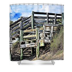 Blowing Rocks Shower Curtain by Bill Howard