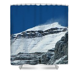 Shower Curtain featuring the photograph Blowing Snow by Ann E Robson