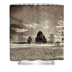 Blowing Snow Canaan Valley Shower Curtain by Dan Friend