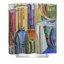 Blown Glass Shower Curtain