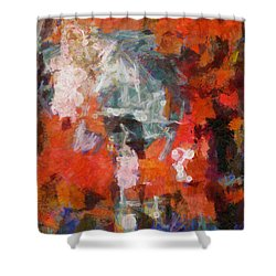Shower Curtain featuring the digital art Blows Away In The Wind by Joe Misrasi