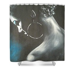 Blu Steele Shower Curtain by Jenny Pickens