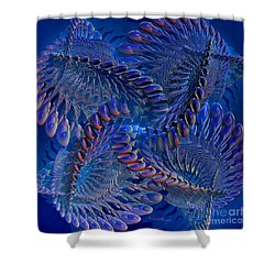 Blue 3 Shower Curtain