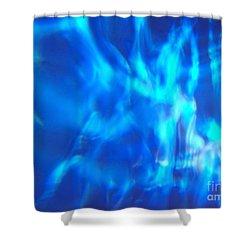 Blue Abstract 2 Shower Curtain by Tony Cordoza