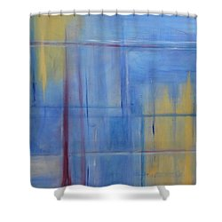 Blue Abstract Shower Curtain by Jamie Frier