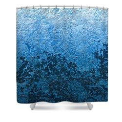 Shower Curtain featuring the photograph Blue Abstract No.1 by Rebecca Davis