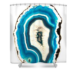 Blue Agate Shower Curtain