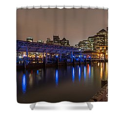 Shower Curtain featuring the photograph Blue And Gold Night by Kate Brown