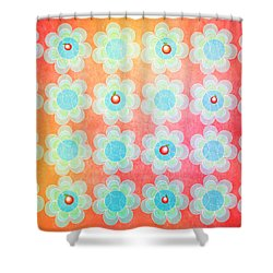 Blue And Green Jelly With Cherries On Top Shower Curtain