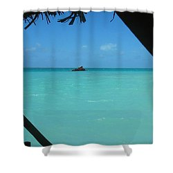 Shower Curtain featuring the photograph Blue And Green by Photographic Arts And Design Studio