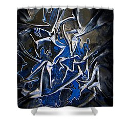 Blue And Silver Dancers Shower Curtain