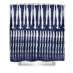 Blue And White Shibori Design Shower Curtain