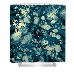 Blue And Yellow Abstraction Shower Curtain