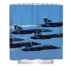 Blue Angels Shower Curtain by Adam Romanowicz