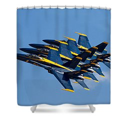 Blue Angels Echelon Shower Curtain
