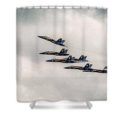 Blue Angels Shower Curtain by Eduard Moldoveanu