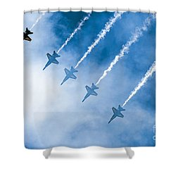 Shower Curtain featuring the photograph Blue Angels by Kate Brown