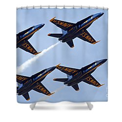 Blue Angels Over Colorado Shower Curtain