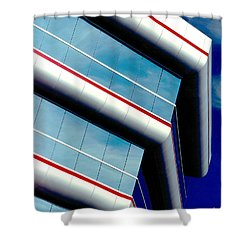 Blue Angled Shower Curtain by Gary Gingrich Galleries
