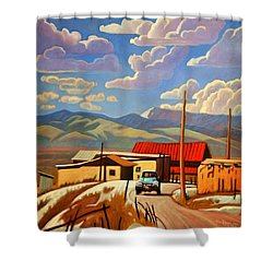 Shower Curtain featuring the painting Blue Apache by Art James West
