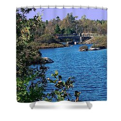 Shower Curtain featuring the photograph Blue As Blue Can Be by Gena Weiser