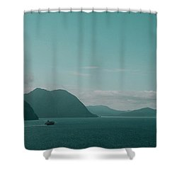Blue As Fjord Shower Curtain