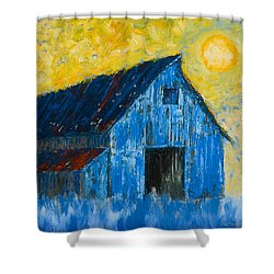 Blue Barn Number One Shower Curtain by Jerry McElroy