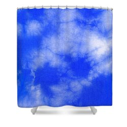 Blue Batik Pattern  Shower Curtain by Kerstin Ivarsson