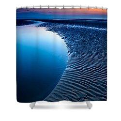 Blue Beach  Shower Curtain by Adrian Evans