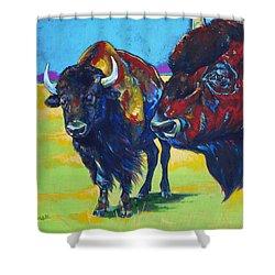Blue Beard Shower Curtain by Derrick Higgins