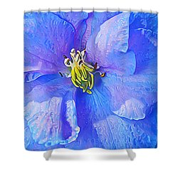 Blue Beauty Shower Curtain by ABeautifulSky Photography