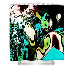 Shower Curtain featuring the photograph Blue Beauty by Jessica Shelton