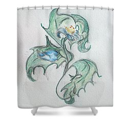 Blue Blossom 2 Shower Curtain