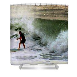 Blue Board Shower Curtain by Karen Wiles