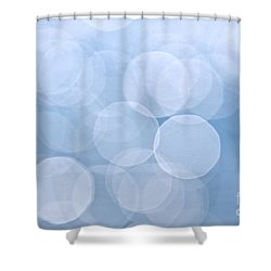 Blue Bokeh Background Shower Curtain by Elena Elisseeva