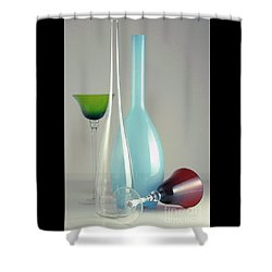 Blue Bottle #2 Shower Curtain