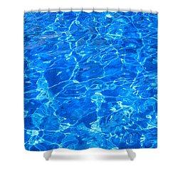 Aqua Blue Shower Curtain by Brian Chase