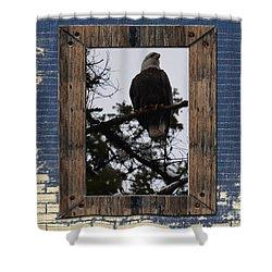 Blue Brick Shower Curtain by Greg Patzer