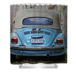 Blue Bug Shower Curtain