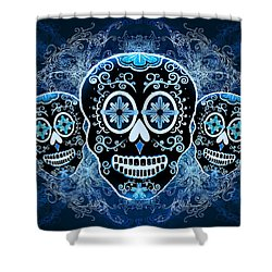 Three Amigos Shower Curtain by Tammy Wetzel