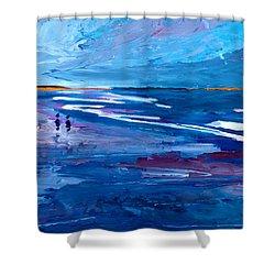 Blue Californian Seascape In Big Sur Shower Curtain by M Bleichner