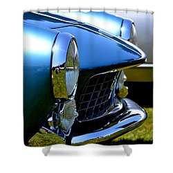 Shower Curtain featuring the photograph Blue Car by Dean Ferreira