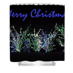 Shower Curtain featuring the photograph Blue Christmas by Darren Robinson