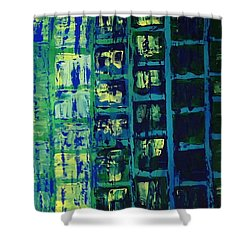 Blue City 2 Shower Curtain