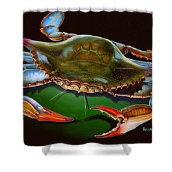 Blue Crab Open Claw Shower Curtain