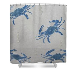 Blue Crabs On Sand Shower Curtain