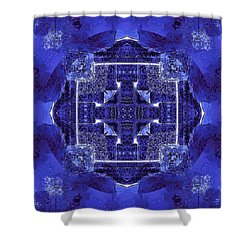 Blue Cross Radiance Shower Curtain
