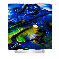 Blue Crystal Shower Curtain by David Patterson
