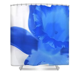 Shower Curtain featuring the photograph Blue Daffodil by Andy Prendy
